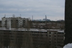 Chernobyl is so close, it is easily viewable from the city's buildings.