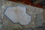 Map in the bus station.