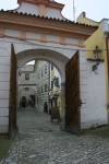 It was still late winter, and the tourists were nowhere to be seen in Cesky Krumlov.