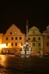 Cesky Krumlov is never crowded, but at night it is completely deserted.