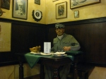 This wax model restaurant patron was perhaps the most disturbing thing we saw.